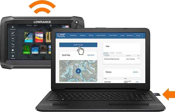 Lowrance/Laptop